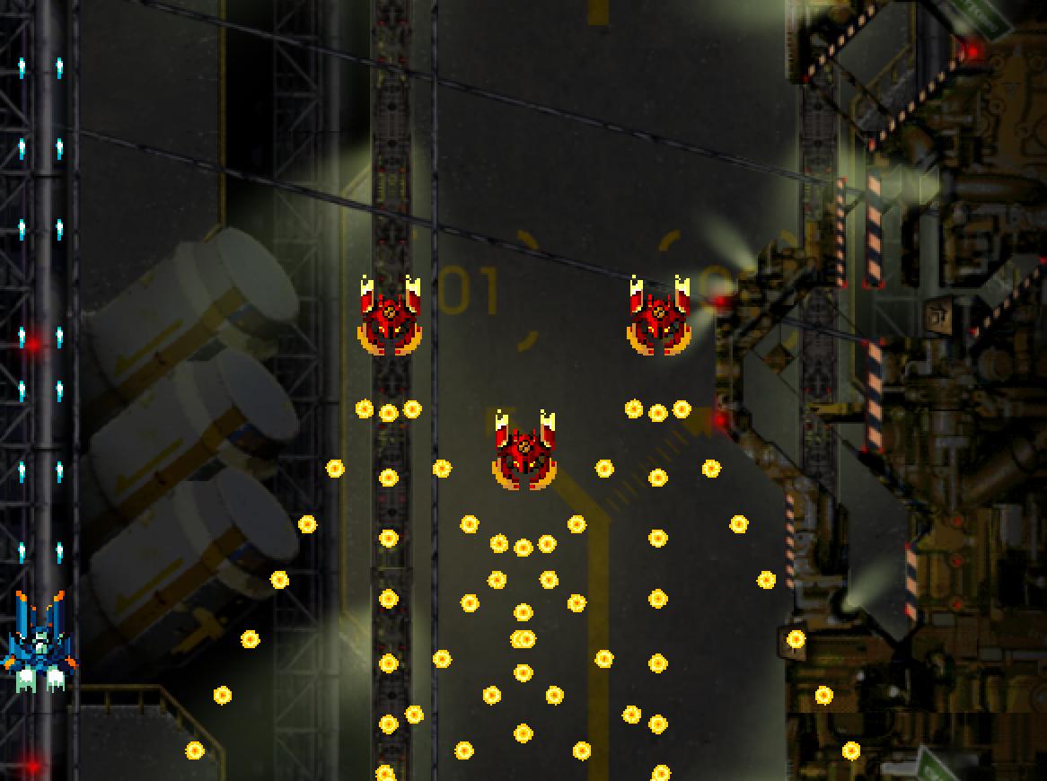 弾が多く敵を倒せない場合はWaveプレハブにあるEnemyのCanShotのチェックを外してください